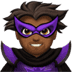 🦹🏾‍♂️ man supervillain: medium-dark skin tone Emoji on Apple Platform