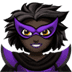 🦹🏿‍♀️ woman supervillain: dark skin tone Emoji on Apple Platform