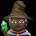 🧙🏿 mage: dark skin tone Emoji on Apple Platform