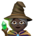 🧙🏿‍♀️ woman mage: dark skin tone Emoji on Apple Platform