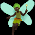 🧚🏿 fairy: dark skin tone Emoji on Apple Platform