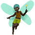 🧚🏿‍♂️ man fairy: dark skin tone Emoji on Apple Platform