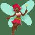 Medium Dark Skin Tone Female Fairy