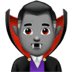 🧛🏽‍♂️ man vampire: medium skin tone Emoji on Apple Platform
