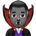 🧛🏾‍♂️ man vampire: medium-dark skin tone Emoji on Apple Platform