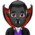 🧛🏿♂️ man vampire: dark skin tone Emoji on Apple Platform