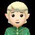 🧝🏻 elf: light skin tone Emoji on Apple Platform