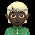 🧝🏿 elf: dark skin tone Emoji on Apple Platform