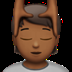 💆🏾 person getting massage: medium-dark skin tone Emoji on Apple Platform