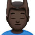 💆🏿‍♂️ man getting massage: dark skin tone Emoji on Apple Platform