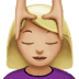 💆🏼‍♀️ woman getting massage: medium-light skin tone Emoji on Apple Platform