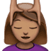 💆🏽‍♀️ woman getting massage: medium skin tone Emoji on Apple Platform