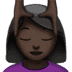 💆🏿‍♀️ woman getting massage: dark skin tone Emoji on Apple Platform
