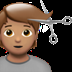 💇🏽 person getting haircut: medium skin tone Emoji on Apple Platform