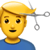 💇‍♂️ man getting haircut Emoji on Apple Platform