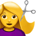 💇‍♀️ woman getting haircut Emoji on Apple Platform