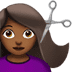 Medium Dark Skin Tone Woman Getting Haircut