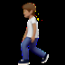 🚶🏽 person walking: medium skin tone Emoji on Apple Platform