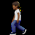 🚶🏾 person walking: medium-dark skin tone Emoji on Apple Platform