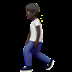 Person Walking: Dark Skin Tone
