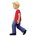 🚶🏼‍♂️ man walking: medium-light skin tone Emoji on Apple Platform
