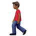 🚶🏾‍♂️ man walking: medium-dark skin tone Emoji on Apple Platform