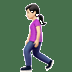 🚶🏻‍♀️ woman walking: light skin tone Emoji on Apple Platform