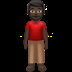 Man Standing: Dark Skin Tone