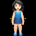 🧍🏻‍♀️ woman standing: light skin tone Emoji on Apple Platform