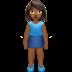 🧍🏾♀️ woman standing: medium-dark skin tone Emoji on Apple Platform