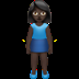 🧍🏿‍♀️ woman standing: dark skin tone Emoji on Apple Platform