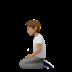 🧎🏽 person kneeling: medium skin tone Emoji on Apple Platform