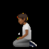 Person Kneeling: Medium-dark Skin Tone