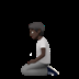 Person Kneeling: Dark Skin Tone