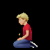 🧎🏼‍♂️ man kneeling: medium-light skin tone Emoji on Apple Platform