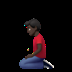🧎🏿‍♂️ man kneeling: dark skin tone Emoji on Apple Platform