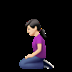 🧎🏻‍♀️ woman kneeling: light skin tone Emoji on Apple Platform