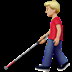 👨🏼‍🦯 man with probing cane: medium-light skin tone Emoji on Apple Platform