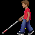 👨🏽‍🦯 Medium Skin Tone Man With Probing Cane Emoji on Apple Platform