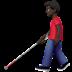 👨🏿‍🦯 man with probing cane: dark skin tone Emoji on Apple Platform