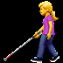 👩‍🦯 Woman With Probing Cane Emoji on Apple Platform