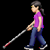 👩🏻‍🦯 woman with probing cane: light skin tone Emoji on Apple Platform