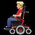 👨🏼🦼 man in motorized wheelchair: medium-light skin tone Emoji on Apple Platform
