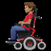 👨🏽‍🦼 man in motorized wheelchair: medium skin tone Emoji on Apple Platform