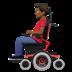 👨🏾🦼 man in motorized wheelchair: medium-dark skin tone Emoji on Apple Platform