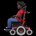 👨🏿‍🦼 man in motorized wheelchair: dark skin tone Emoji on Apple Platform