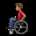 👨🏽‍🦽 man in manual wheelchair: medium skin tone Emoji on Apple Platform