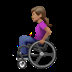 👩🏽‍🦽 woman in manual wheelchair: medium skin tone Emoji on Apple Platform