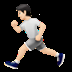 🏃🏻 person running: light skin tone Emoji on Apple Platform