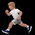 🏃🏽 person running: medium skin tone Emoji on Apple Platform
